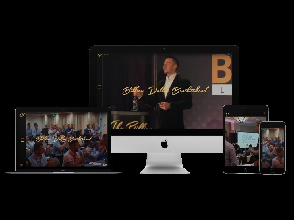 Billion Dollar Body Website Example